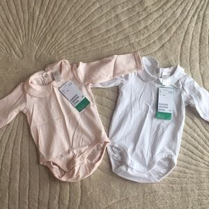 NEW H&M baby girl collar onesies 2-4 months